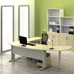 Executive Table+Side Connection+CPU Holder+Combination Of Low Cabinet+Low&Medium&High Cabinet