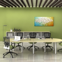 Oval Conference Table+Low Cabinet