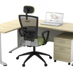 Superior Compact Table(L)+Mobile Pedestal-a