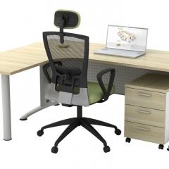 Superior Compact Table(L)+Mobile Pedestal-b