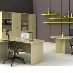 Executive&Round Conference Table+Side&High Cabinet