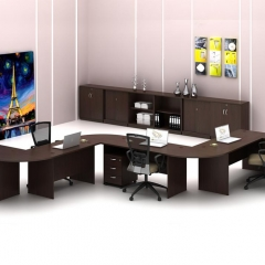 Standard Table+SIde Connection+Mobile Pedestal+Combination Of Low Cabinet