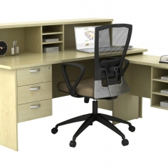 Standard&Side Table+Reception Counter Top+Fixed Pedestal