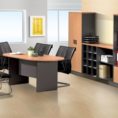 Oval Conference Table+Low&Medium Cabinet