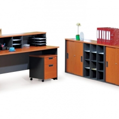 Standard Table+Reception Counter Top+Mobile Pedestal+Low Cabinet