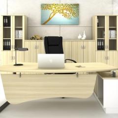 Director Table Set+Side&Medium&High Cabinet