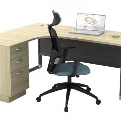 Superior Compact Table(L)+Fixed Pedestal-a
