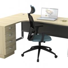 Superior Compact Table(L)+Fixed Pedestal-b