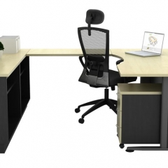 Executive Table+Side Connection+Dual Low Cabinet+Mobile Pedestal-b